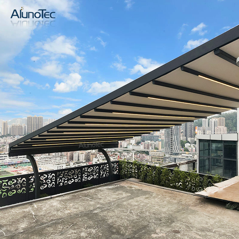 Aluminum Villa Metal Electric Restaurant PVC Retractable Awning
