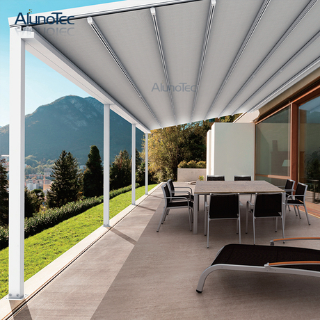 Electric Waterproof Gazebo Pvc Awning For Garden