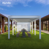 Outdoor Retractable Awnings Aluminum Pergola Gazebo With Electric System