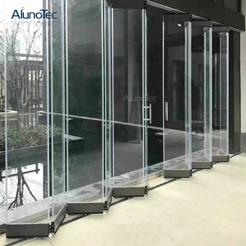 New Design Stainless Steel Frameless Glass Folding Door/Accessories