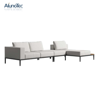 Stylish Outdoor Upholstered Furniture Set Sectional Modular Sofa