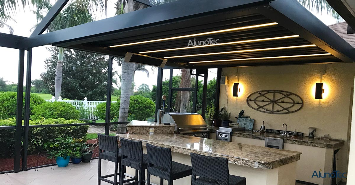 Aluminum Pergola For Your Outdoor Kitchen
