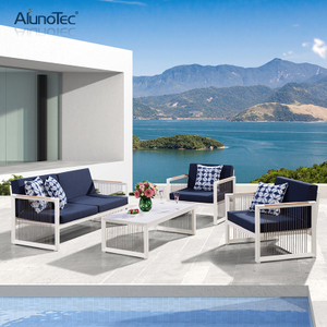 Exquisite Sofa Set Outdoor Leisure Aluminum Garden Patio Sectional Sofa Furniture