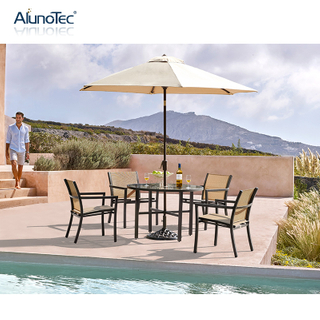 Luxury Modern Design Outdoor Furniture Dining Set Garden Dining Table Chairs