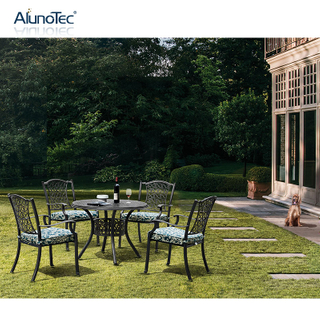 Outdoor Dining Set Round Table And Chair Garden Furniture Dining Set
