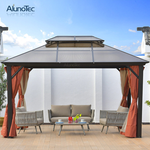 Stand Alone Sun Block Waterproof Aluminium Polycarbonate Gazebo