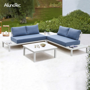 Outdoor 4-Seaters Garden Patio Furniture Modular Upholstery Sectional Sofa Set