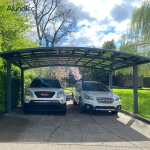 Modern Aluminum Arched Polycarbonate Roof Carport Car Shelter