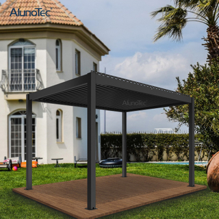 Bioclimatic Design Outdoor Manual Adjustable Louvered Roof System Aluminium Pergola