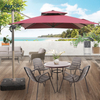 Modern Rain-Resistant Garden Furniture Patio Parasols Aluminum Roman Outdoor Umbrellas