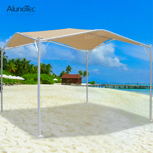 3d Cambered Patio Canopy Polyester Fabric Awning Outdoor With Steel Frame