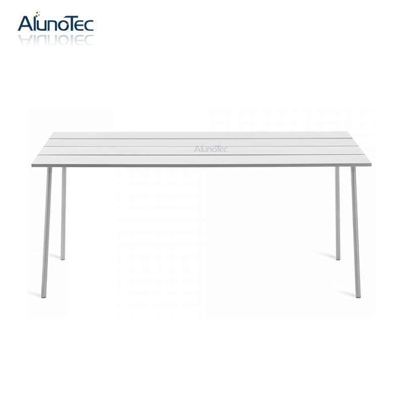 High-quality Living Room Simplicity White Metal Dining Table