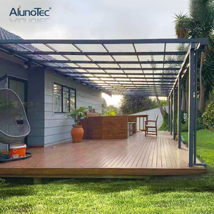 Waterproof Patio Awning Polycarbonate Aluminum Balcony Roof Gutter Outside Straight Canopy