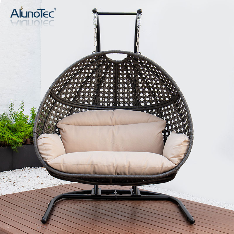 Single Patio Swing Chair Garden Hammock, Outdoor Swing Chairs With Stand