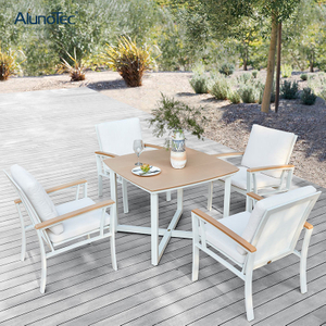 New Modern Design Aluminum Outdoor Dining Set Garden Table With 4 Seats