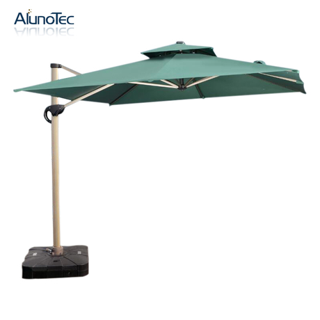 Rectangular Patio Umbrella Outdoor UV Resistant Canopy with Push Bottom