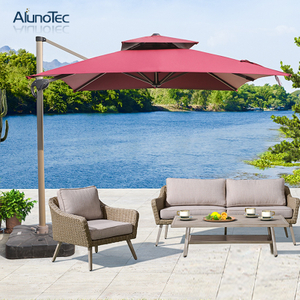 Rain-Resistant Patio Parasols Aluminum Roman Outdoor Umbrellas Garden Furniture