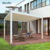 Adjustable Opening Roof Outdoor Gazebo Sun Shade Waterproof Manual Louvre Roof Pergola
