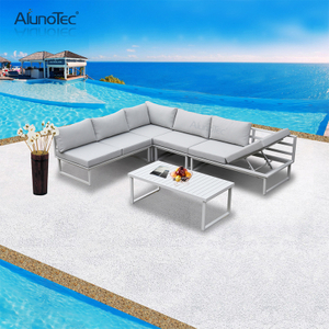 Outdoor Modular Sectional Upholstery Garden Set Patio Sofa Furniture