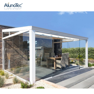 Modern Pergola Aluminum Outdoor Pergolas Patio Cover Sunroom Canopy with Pvc Pergola Roof System