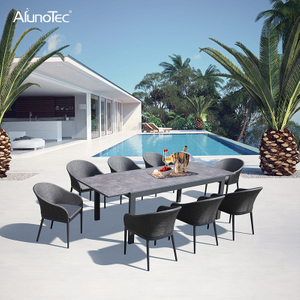 Outdoor Aluminium Extension Tables and Dining Sets Patio Garden Furniture