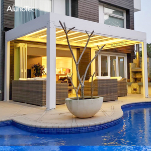 Metal Shade Gazebo Waterproof Awning Louvered Roof For Pergola