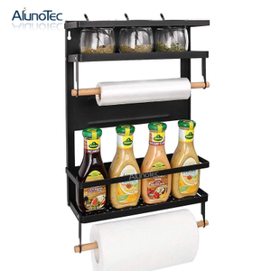Foldable Refrigerator Side Hanging Magnetic Spice Rack