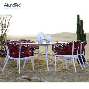 Outdoor Rope Woven Garden Dining Set Furniture Patio Sets
