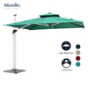 Aluminum Outdoor Coffee Canopy Roman Umbrella with Base