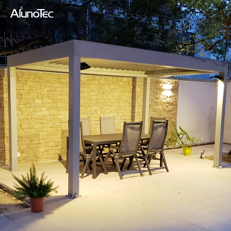 Outdoor Shade Gazebo Retractable Pergola Cover For Swimming Pool