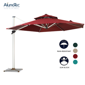 Modern Garden Furniture Patio Parasols Aluminum Roman Outdoor Cantilever Umbrella