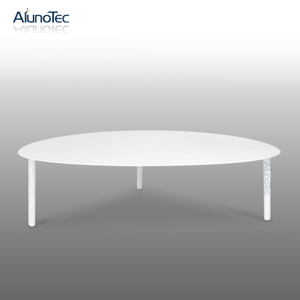 Modern Living Room Metal White Round Coffee Table