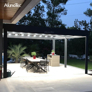 Motorized Retractable Patio Canopy Pergolas Roof With Rain Sensor