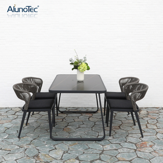Wholesale Furniture Outdoor Garden Dining Table And Stackable Chairs