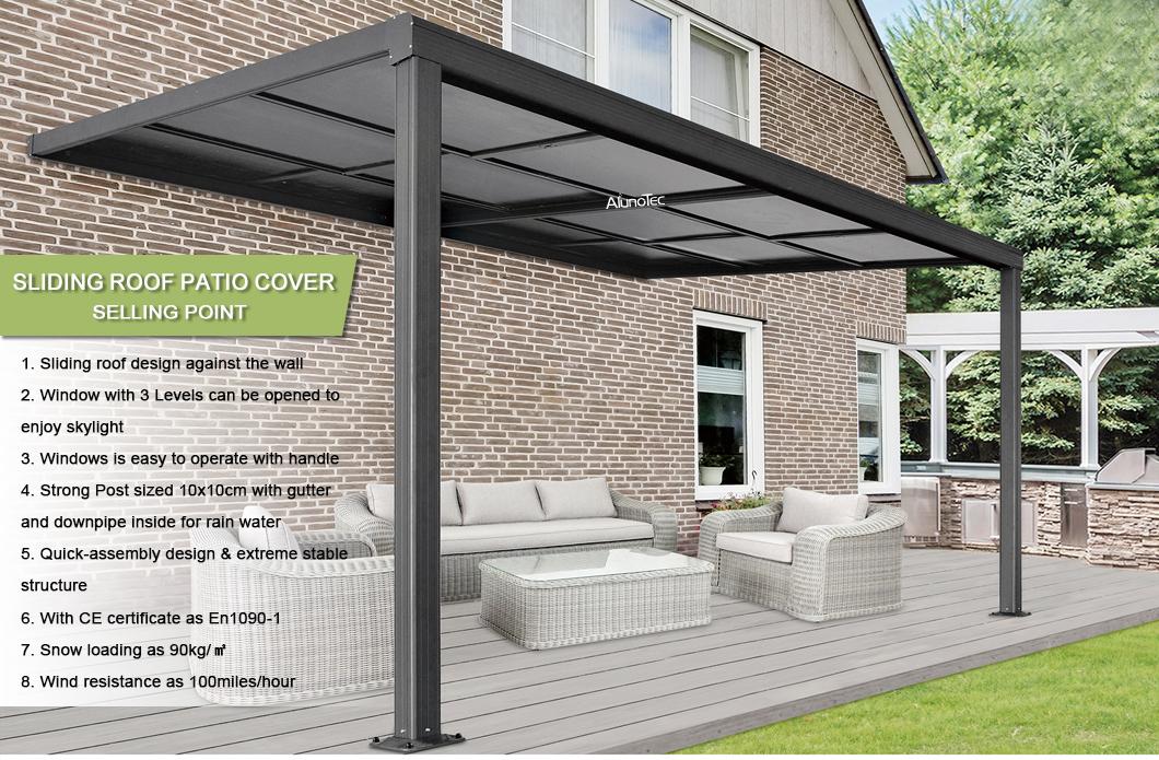 Sliing Roof Sliing Roof Products Sliing Roof Manufacturers Sliing Roof Suppliers And Exporters Aluminum Pergola Alunotec