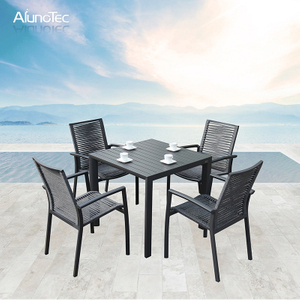 Outdoor Patio Furniture Dining Table with Chair Sets for Garden Hotel Contract